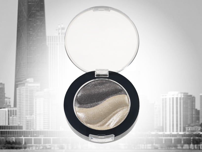 Eye shadow compact 50 mm, with domed lid, standard and customized